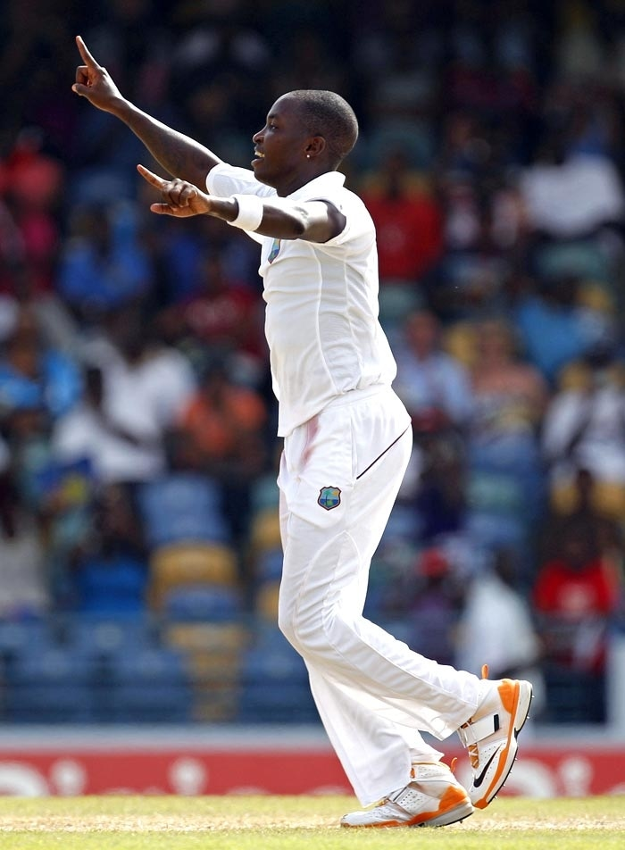 Edwards too kept the pressure up and joined Bishoo and Rampaul to take three wickets from the innings.