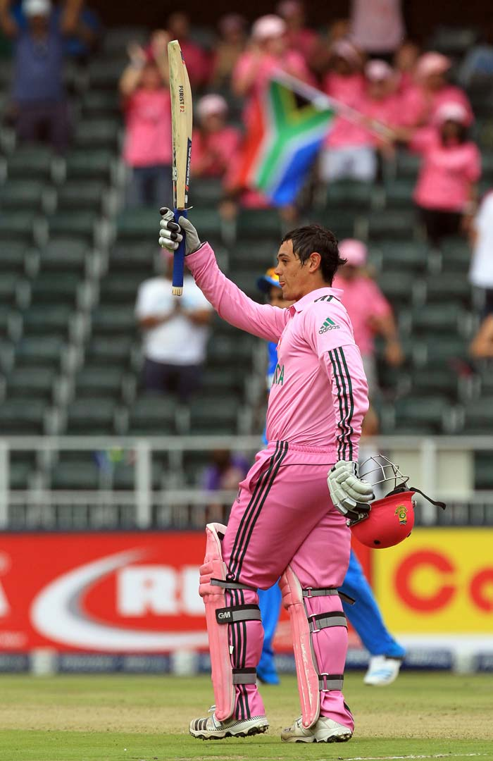 The baby-faced South African opener Quinton de Kock made the most of his opportunity at the top of the order and began the series with a well-paced ton at Johannesburg. (All images AFP and AP)