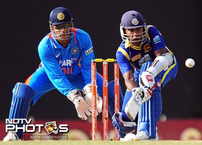Jayawardena took the lead and completed his fifty first. He managed to deny both Indian spinners as well as the seamers.