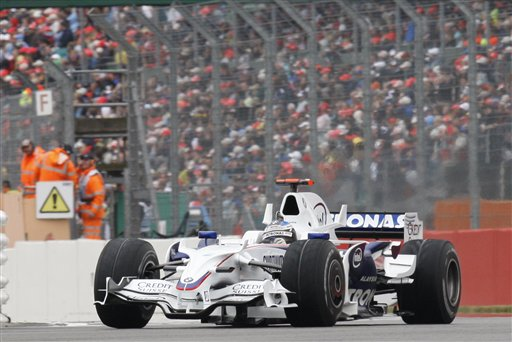 BMW Sauber driver Nick Heidfeld of Germany steers his car during the Silverstone Formula One Grand Prix in Silverstone, England on July 6, 2008.