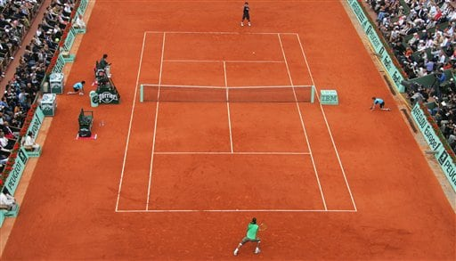 Roger Federer took on three-time defending champion Rafael Nadal at the French Open final. (AP)