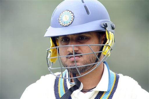 India's Harbhajan Singh out for 0 in the second innings against New Zealand on the 4th day of the 3rd Test at Basin Reserve in Wellington on Monday. (AP Photo)