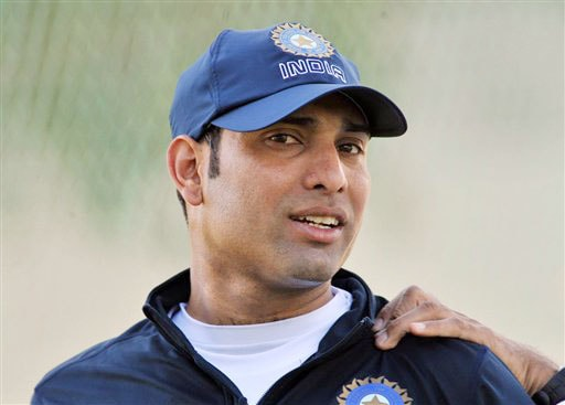 India's VVS Laxman receives treatment to his shoulder at the Test players first net session prior to their forthcoming three Test series against New Zealand in Hamilton on Thursday. (AP Photo)
