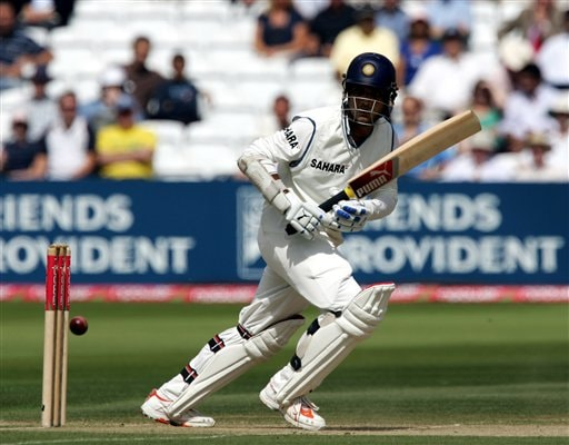 India's Sourav Ganguly hits a ball from England's James Anderson during the third day of the first Test at Lord's cricket ground, London on Saturday.