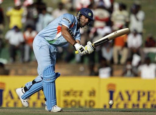 Yuvraj Singh bats during the first ODI against Sri Lanka in Dambulla on Wednesday. (AP Photo)
