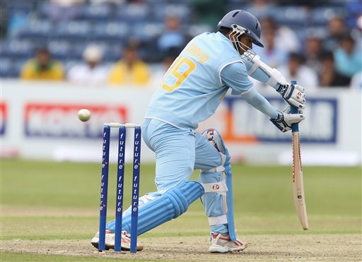 Rahul Dravid in action batting during the One Day International series match against South Africa, Stormont, Belfast, Northern Ireland, Tuesday, June, 26, 2007.