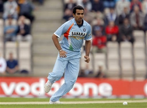 Zaheer Khan runs to field the ball during the one-day cricket match between England and India at The Rose Bowl cricket ground in Southampton, England, Tuesday, Aug. 21, 2007.