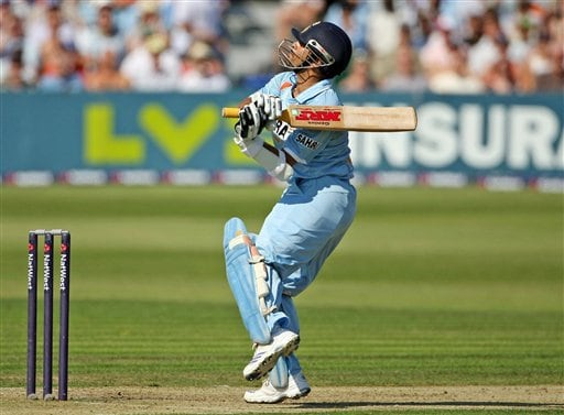 India's Sachin Tendulkar in action during the one day match against England at the County Ground, Bristol, England on Friday.