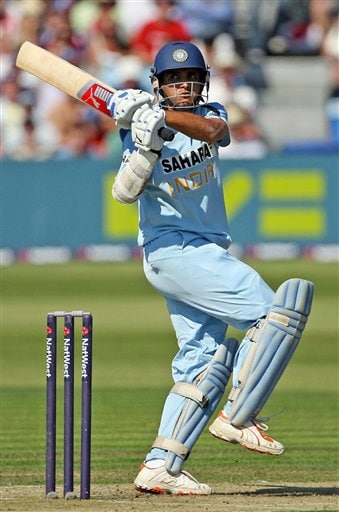 India's Sourav Ganguly in action during the one day match against England at the County Ground, Bristol, England on Friday.