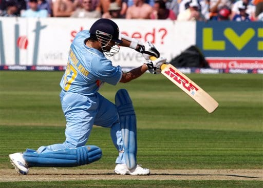 India's Sachin Tendulkar during the 2nd one-day cricket match series between England, and India, in Bristol, England on Friday.