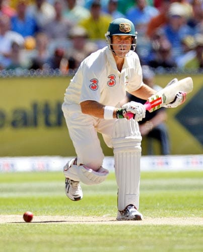 Matthew Hayden in action during the first day of the first cricket Test match against India at the Melbourne Cricket Ground in Melbourne on Wednesday, December 26, 2007.