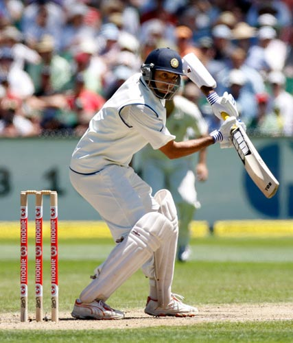 VVS Laxman in action during the second day of the first Test match against Australia at the Melbourne Cricket Ground in Melbourne on Thursday, December 27, 2007.