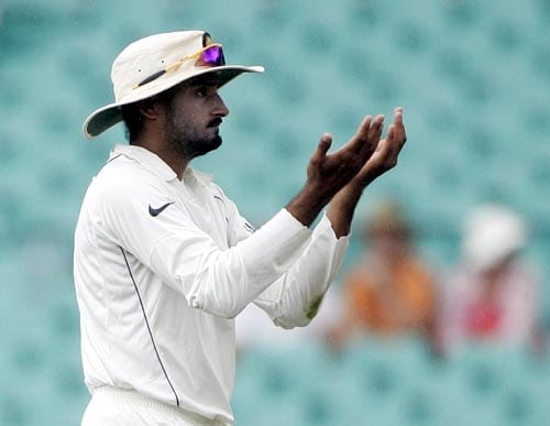 Harbhajan Singh gestures during the first session at the Sydney Cricket Ground on Saturday, January 5, 2008, on the fourth day of their second Test against Australia.