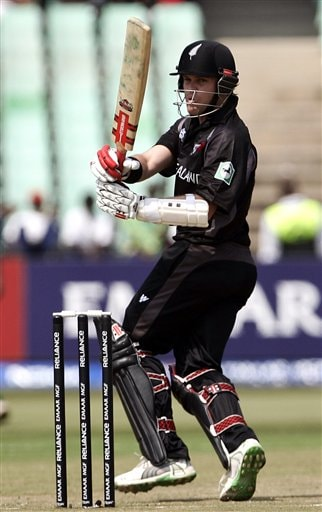New Zealand's Lou Vincent plays a shot against Kenya during their Twenty20 World Championship cricket match in Durban, South Africa, Wednesday Sept. 12, 2007.