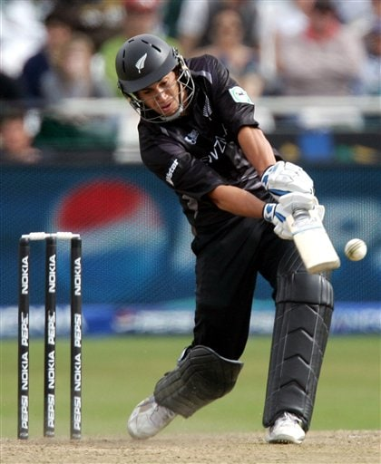 New Zealand's batsman Ross Taylor, plays a shot during their semifinal of the Twenty20 World Championship against Pakistan at the Newlands Stadium in Cape Town, South Africa, Saturday, Sept. 22, 2007.