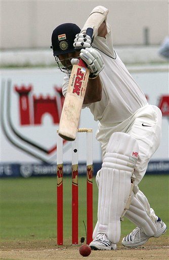 India's batsman Sachin Tendulkar, bats on the third day of the 2nd Cricket Test match against South Africa at Kingsmead stadium in Durban, South Africa, Thursday.