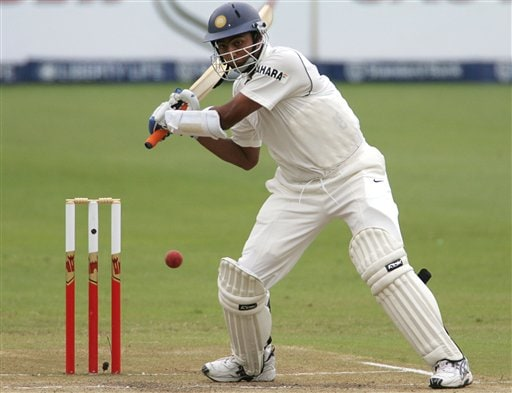 India's batsman VRV Singh plays a shot on the third day of the 2nd cricket Test match against South Africa at Kingsmead stadium in Durban, South Africa, Thursday.