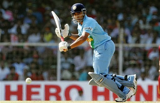 Indian cricketer Robin Uthappa plays a shot against West Indies during the third one-day international cricket match in Chennai, India, Saturday, January 27, 2007.