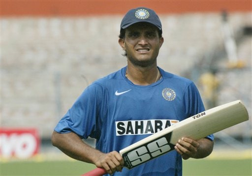 India's Sourav Ganguly runs during a net practice session in Kolkata, India, Wednesday, February 7, 2007.