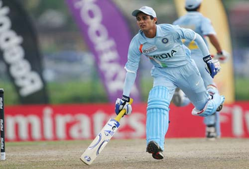<b>Making way:</b> Indian batsman Siddharth Kaul in action against South Africa (© ICC)