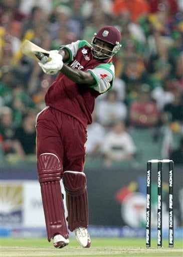 West Indies batsman Chris Gayle, plays a shot during their Twenty20 World Championship cricket match against South Africa at the Wanderers Stadium in Johannesburg, South Africa, Tuesday, Sept. 11, 2007.