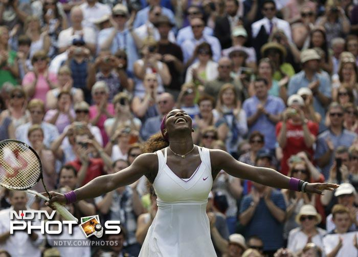 It was a day that saw Serena Williams enter her seventh Wimbledon final but it was history for Agnieszka Radwanska as she became the first Polish Grand Slam finalist after 73 years. A look at the events on the tenth day of Wimbledon 2012.(All Photos AP)