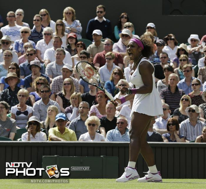 Serena Williams looked in good touch right from the start in her semi final clash against Victoria Azarenka.