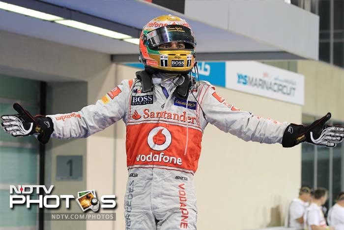 Lewis Hamilton had hoped for a successful 2012. Success however, came early for the Briton as he registered a win at the Yas Marina Circuit. A look how he and the other stars of F1 fared here. (AP and AFP images)