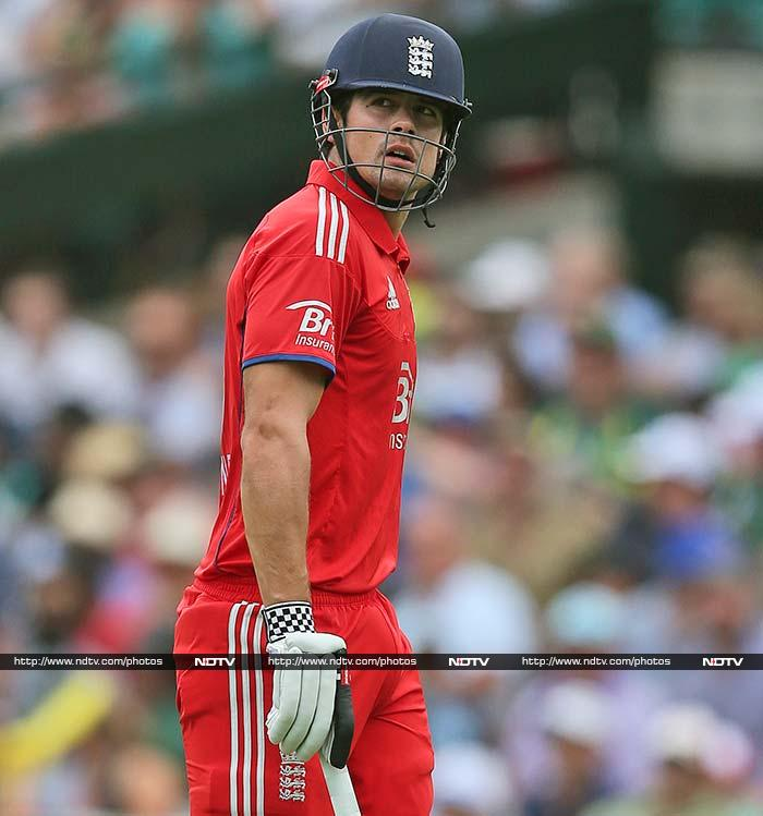 Alastair Cook lead the way with 35 at the top of the order for England.