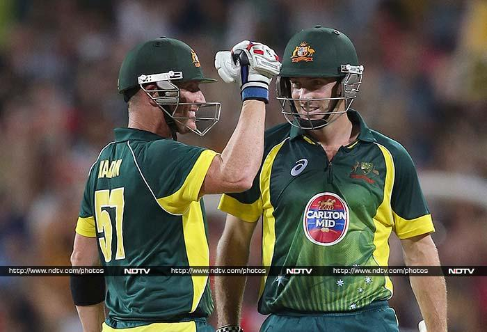 Australia made short work of their 244-run target to clinch the five-match series 3-0 with two games to play. (AP/AFP)