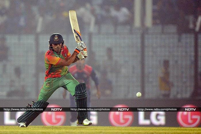 Bangladesh were off to a solid start thanks to opener Anamul Haque, who top scored for the hosts with 42.
