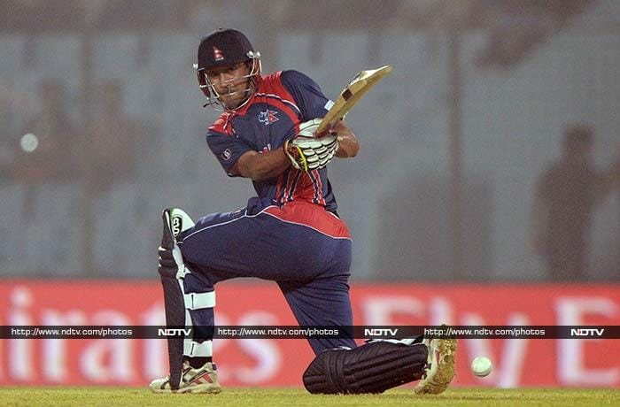 Put in to bat, Nepal scored 126 for 5 in their 20 overs, thanks to skipper Paras Khadka's 41.