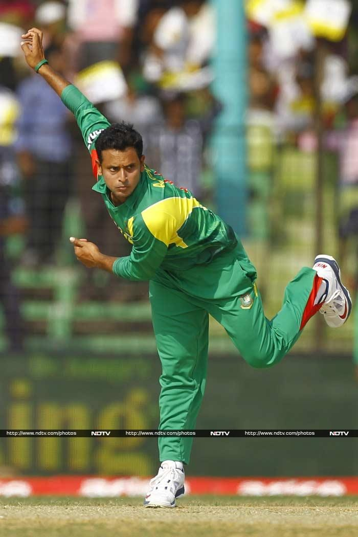 Arafat Sunny had taken two wickets in quick succession to leave Afghanistan reeling at 43/3 inside 14 overs. Sunny went to be the best Bangladesh bowler, registering figures of 2 for 44.