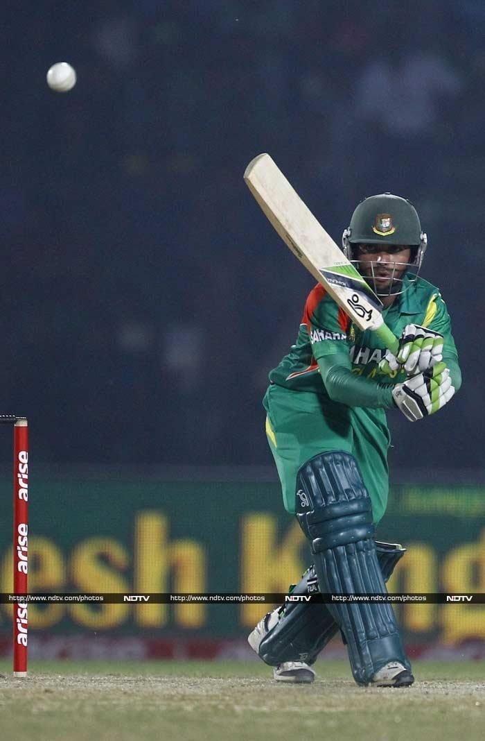 Then Mominul Haque and skipper Mushfiqur Rahim shared 67-run stand before the latter fell to his opposite number Mohd Nabi for 23. Mominul scored his 2nd ODI fifty.