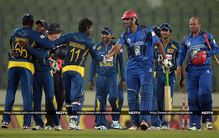 Sri Lanka beat Afghanistan by 129 runs in Mirpur on Monday to enter the final of Asia Cup 2014, effectively knocking India out. All images courtesy AP and AFP.