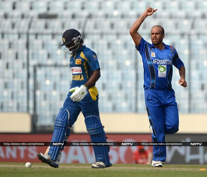 Mirwais Ashraf was the pick of the bowlers for Afghanistan, scalping 2 for 29 including wickets of opener Kusal Perera and Mahela Jayawardene.
