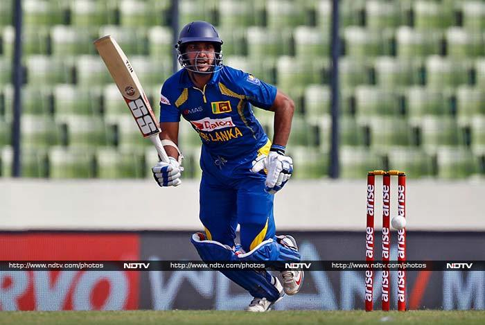 Sangakkara was the top scorer for Sri Lanka with 76, his 85th half-century in ODIs.