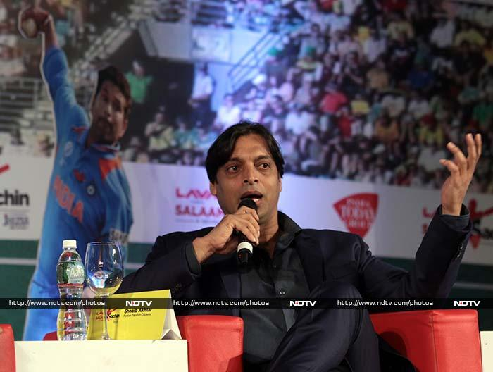 "Shoaib Akhtar was more interested in what the future holds for Sachin and India. <br><br>""Indian cricket needs Sachin after retirement. Don't let go of him. He can mentor the youngsters,"" he was quoted as saying. <br><br>Image courtesy: Santosh Nagwekar/NDTV"
