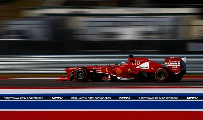 While Lewis Hamilton finished third, Ferrari's Fernando Alonso (in pic) completed the top-five.
