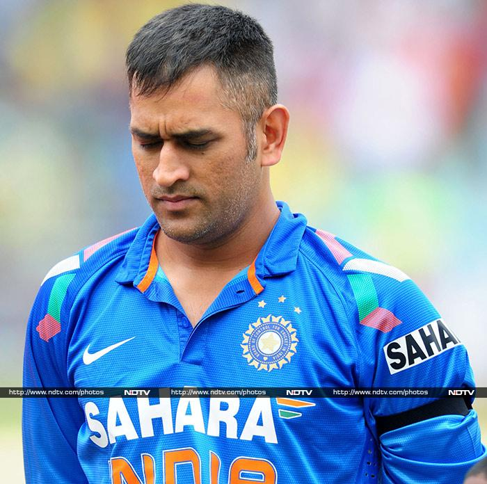 Dhoni could feel the game slipping away from him but produced a masterstroke in the death overs. (AP image)