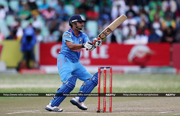 Suresh Raina top-scored for India with 36 but by then the Men in Blue were well behind the eight-ball. (AFP image)