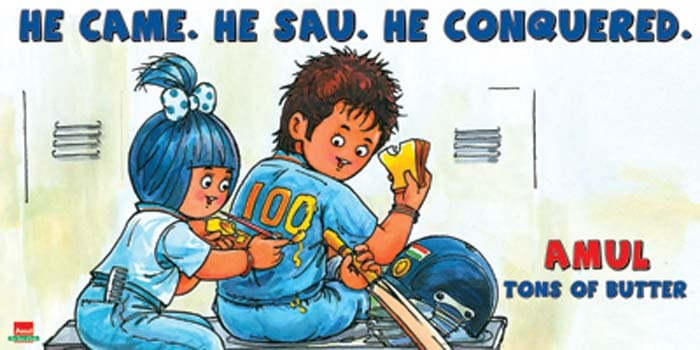 When Sachin completed his 100th international century.