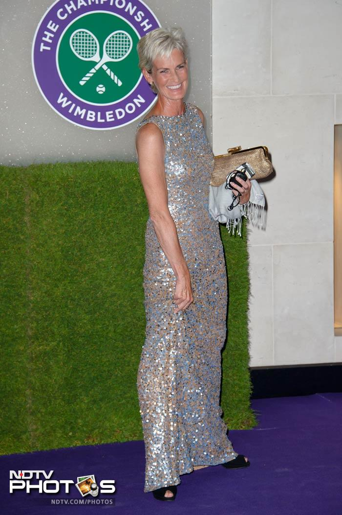 Judy was later seen at the Wimbledon Champions Dinner.