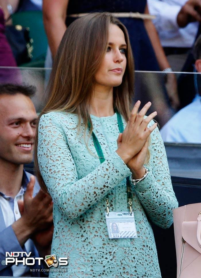 Kim Sears has been a regular spectator in clashes involving Andy Murray.<br><br> She was a bit pensive at the start of the final match.<br>The manner in which Murray dominated however left her with a grin that can hardly be described in words.