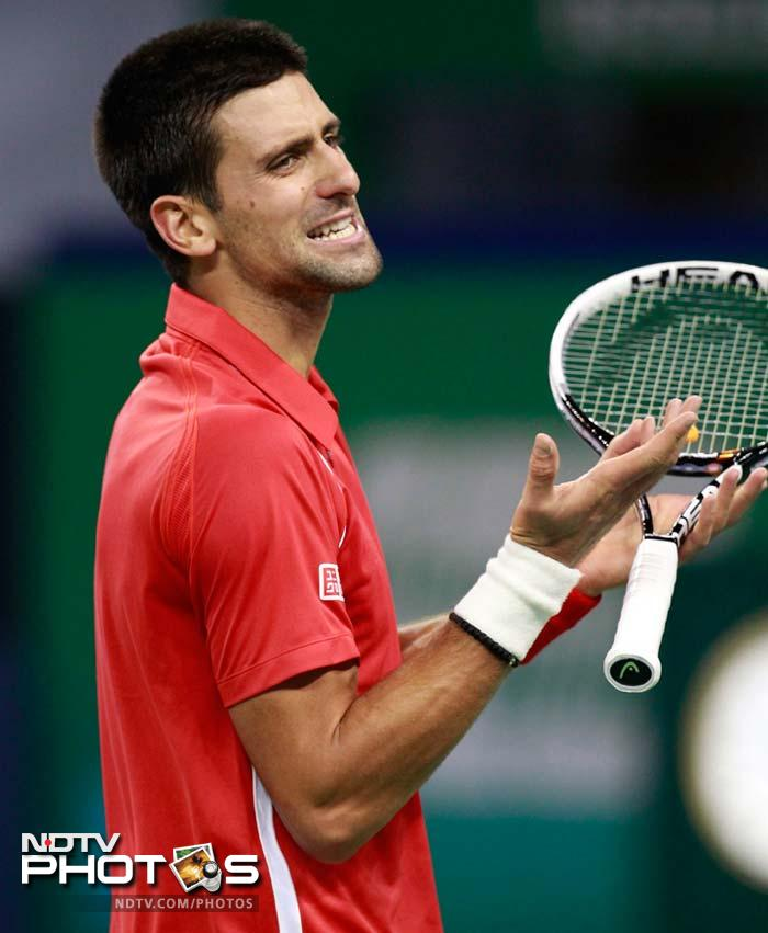 Djokovic from another instance when he lost a close and intensely fought rally.