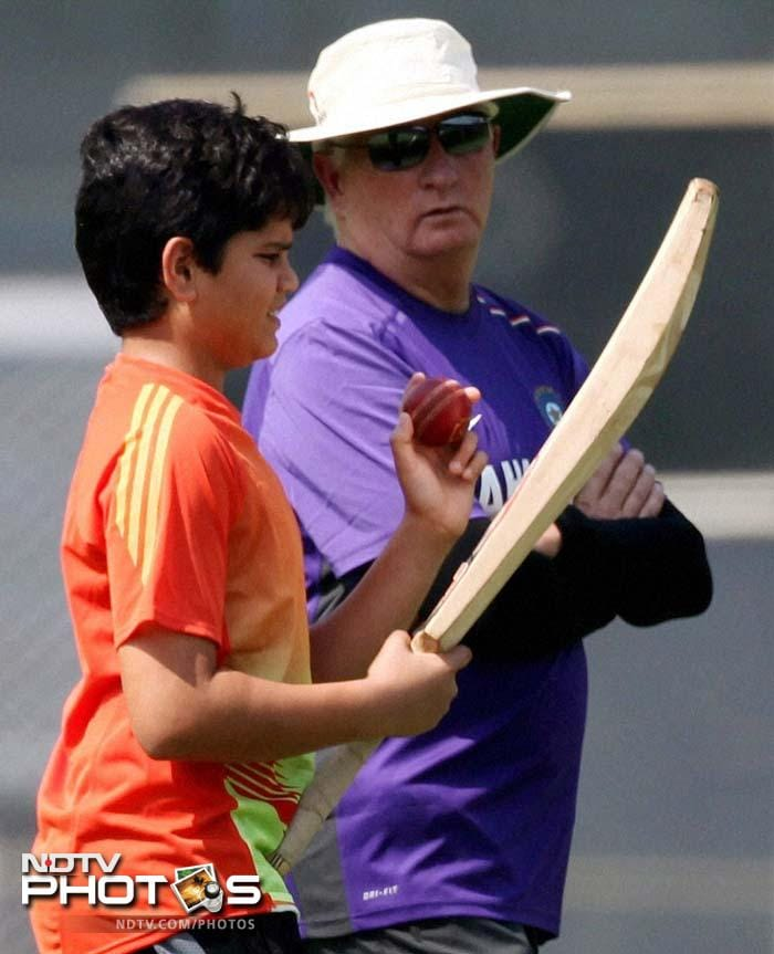 One for the future? Too early to say. But Arjun Tendulkar is lucky to be guided occasionally by some of the best in the business.