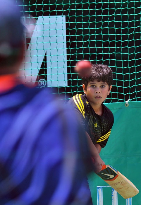 Arjun had also accompanied his father to South Africa earlier this year. He was seen in the nets with Sachin. (AFP Photo)