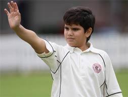 Arjun Tendulkar scores maiden ton