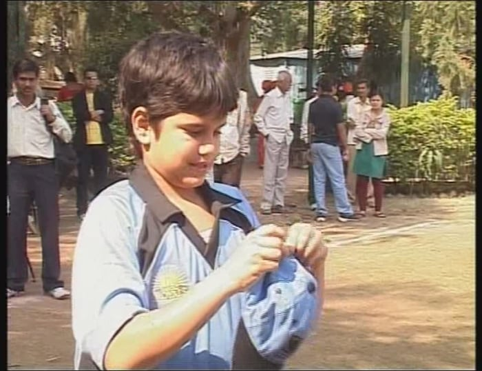Arjun Tendulkar, Sachin Tendulkar's son, made his debut at national level in the Cadence Trophy in Pune. Playing against the Cadence Cricket Academy, the 10-year old could not contribute much, as he fell short of his crease after a confusion with his opening partner.