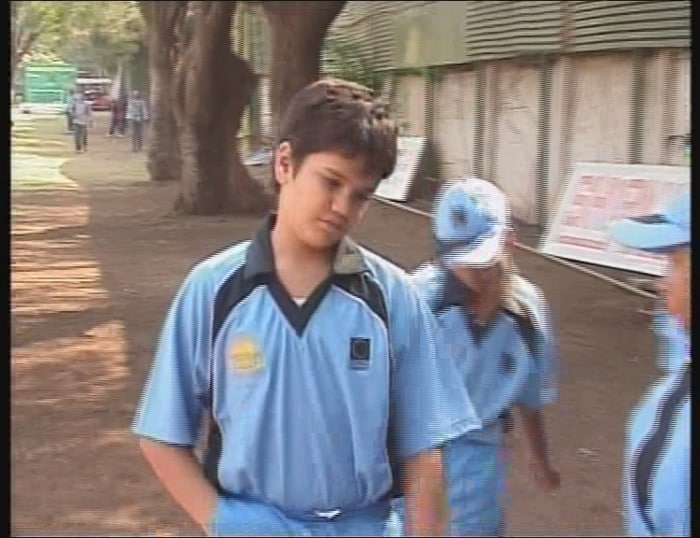 Arjun tendulkar, Sachin Tendulkar's son, walks back after his team lost to the Cadence Cricket Academy in Pune. Unlike his father, Arjun is a left handed batsman and can bowl left arm medium pace.